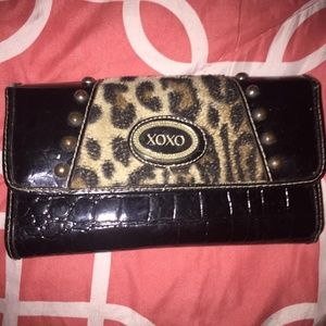 XOXO animal print wallet